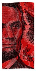 Abraham Lincoln Pop Art Bath Towel