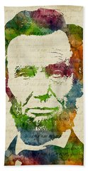 Abraham Lincoln Watercolor Hand Towel
