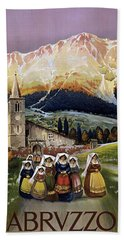Abruzzo Italy Travel Poster 1920 Hand Towel
