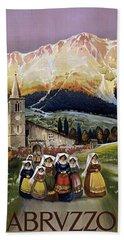 Abruzzo Italy Travel Poster 1920 Bath Towel