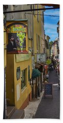 Bath Towel featuring the photograph Absinthe In Antibes by Allen Sheffield