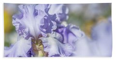Bath Towel featuring the photograph Absolute Treasure 1. The Beauty Of Irises by Jenny Rainbow