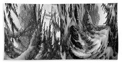 Abstrace Snow Pines Bath Towel