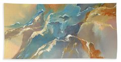 Bath Towel featuring the painting Abstract #04 by Raymond Doward