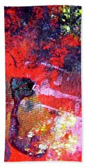 Hand Towel featuring the painting Abstract 6539 by Stephanie Moore