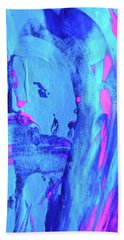 Hand Towel featuring the painting Abstract 6541 by Stephanie Moore