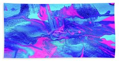 Hand Towel featuring the painting Abstract 6544 by Stephanie Moore