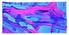 Hand Towel featuring the painting Abstract 6547 by Stephanie Moore