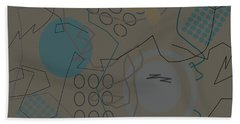 Abstract 8 Brown Hand Towel
