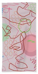 Abstract 8 Pink Hand Towel