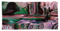 abstract A Time And A Different Place  Hand Towel by Sherri's Of Palm Springs