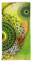 Hand Towel featuring the painting Abstract Acrylic Art The Garden by Saribelle Rodriguez