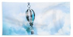 Abstract Air Baloon Hanging On Chain Bath Towel