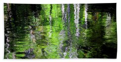 Abstract Along The Stream Hand Towel