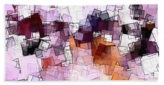 Abstract And Minimalist Art Made Of Geometric Shapes Bath Towel by Ayse Deniz
