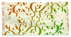 Abstract Arabic Pattern Bath Towel