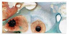 Bath Towel featuring the painting Abstract Art - A Calm Force - Sharon Cummings by Sharon Cummings