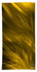 Abstract Art - Feathered Path Gold By Rgiada Hand Towel by Giada Rossi