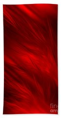 Abstract Art - Feathered Path Red By Rgiada Bath Towel by Giada Rossi