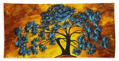Abstract Art Original Landscape Painting Dreaming In Color By Madartmadart Hand Towel