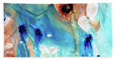 Bath Towel featuring the painting Abstract Art - The Journey Home - Sharon Cummings by Sharon Cummings