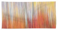 Abstract Autumn Bath Towel