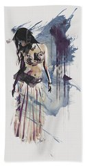Abstract Bellydancer Hand Towel