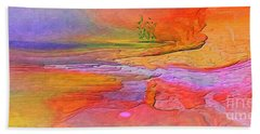 Hand Towel featuring the digital art Abstract Beyond The Sea by Sherri Of Palm Springs