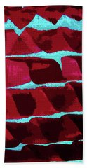 Abstract Black Walnut Ink Bath Towel by Tom Janca