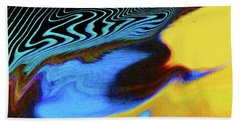 Abstract Blue Bird Feather Hand Towel