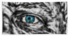 Hand Towel featuring the photograph Abstract Blue Eye by Scott Carruthers