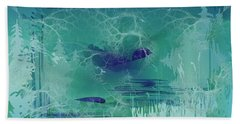 Abstract Blue Green Bath Towel