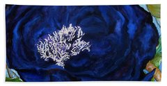 Abstract Blue Bath Towel