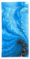 Bath Towel featuring the photograph Abstract Blue Winter Fractal by Matthias Hauser