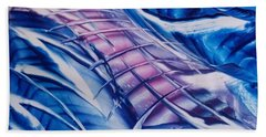 Abstract Blue With Pink Centre Bath Towel