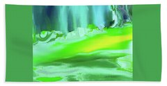 Bath Towel featuring the painting Abstract - Blue Woods by Lenore Senior