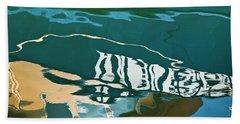 Abstract Boat Reflection Bath Towel