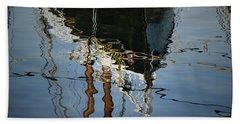 Abstract Boat Reflection IIi Hand Towel