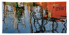 Abstract Boat Reflections Iv Hand Towel