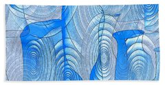 Abstract Bottles Hand Towel