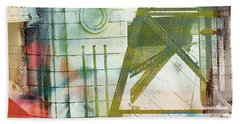 Abstract Bridge With Color Hand Towel