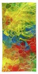 Abstract Bubble Feathers Hand Towel
