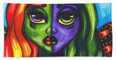 Abstract Butterfly Fairy Girl Hand Towel