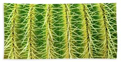 Abstract Cactus Bath Towel by Delphimages Photo Creations