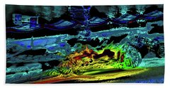 Abstract Carriage Ride Hand Towel
