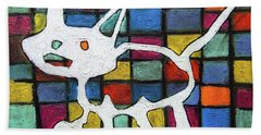 Abstract Cat Hand Towel by Gerhardt Isringhaus