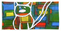 Abstract Cat II Bath Towel by Gerhardt Isringhaus