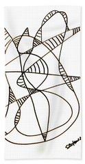 Abstract Cat Hand Towel
