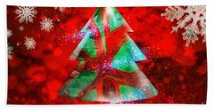 Abstract Christmas Bright Hand Towel