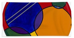 Abstract Circle 3 Hand Towel